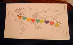 This sponsor shares a fun way to show where her and her sponsored child live on a world map. Have you done something like this with your sponsored child? #compassionletter