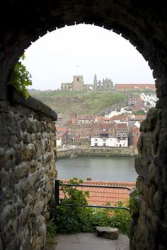 Free Stock Photo: View through a stone arch at Saint Mary's church and Abbey ruins in Whitby - By freeimageslive contributor: photoeverywhere