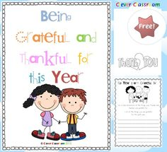 FREE Being Grateful and Thankful for the Year This resource aims to give students the opportunity to develop skills of appreciation, gratefulness and positivity. This resource sees students reflecting as a whole class and as individuals about the good things that have happened in the past year. Students will pay it forward by decorating and writing on a thank you card that they will give to someone dear. Print off the two worksheets and card template for students to write on. FREE