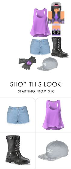 """Aphmau"" by alien-galaxy ❤ liked on Polyvore featuring Ally Fashion, Doublju, NIKE, Coal, women's clothing, women's fashion, women, female, woman and misses"