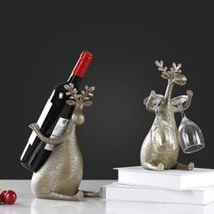Creative resin deer holders home decor