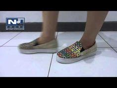Flat Shoes Collection - Corak Warna Warni - YouTube