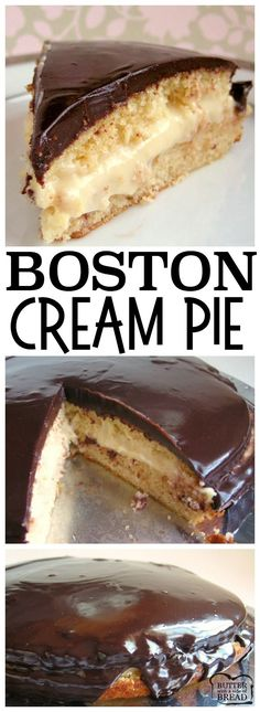 HOMEMADE BOSTON CREAM PIE - Butter with a Side of Bread