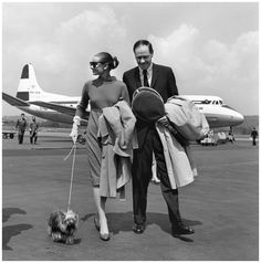 1959. Audrey Hepburn and Mel Ferrer