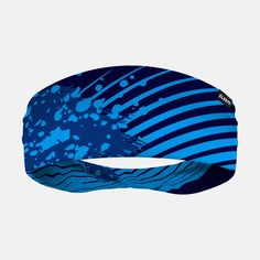 Aerial Blue Double-sided Wide Headband