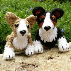 Lizzie and Philly the Corgis Crochet Pattern