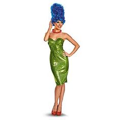 Sexy Jazzy The Simpsons Marge Glam Costume. Brand New The Simpsons Marge Glam Deluxe Adult Halloween Costume by Disguise I Halloween Leggings, Sexy Halloween Costumes, Halloween Fancy Dress, Adult Costumes, Costumes For Women, Woman Costumes, Funny Costumes, Costume Wigs, Costume Dress