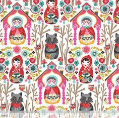 Fabric Fairytale Fabric Riding Hood Story by spiceberrycottage