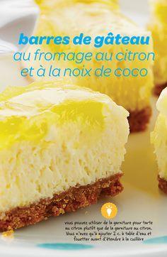 Légères, floconneuses et absolument irrésistibles, ces barres de gâteau au citron voleront la vedette à n'importe quelle vente de pâtisseries.