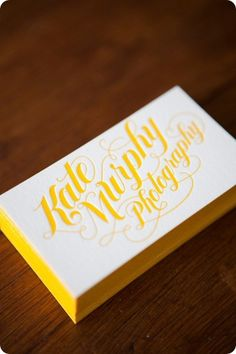 This card is gorgeous! Not the right colour for me but I love how the edge matches the colour of the font. I love how the squiggly elements join all the words without getting in the way...I would love a logo something like this but maybe with the word photography in non cursive.....