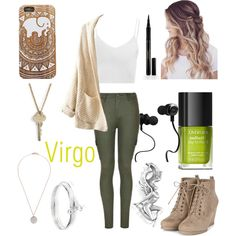 Zodiac // Virgo by fashiongirlxcx on Polyvore featuring polyvore fashion style Glamorous Ally Fashion ChloBo The Giving Keys Bling Jewelry Monster Elizabeth Arden edgy zodiac Virgo