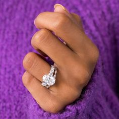 For maximum sparkle, Juliet's the one, pictured here in a 4.00+ carats center stone. Shop via the link in bio and select your preferred center stone from our digital diamond feed on the site. #jeandousset #bespokejeweler #youaboveall #eternityband #weddingset #ovalengagementring #diamondring Bridal Ring Sets, Bridal Rings, Wedding Rings, Timeless Engagement Ring, Engagement Wedding Ring Sets, Oval Diamond, Dream Ring, High Jewelry, Jewelry Design