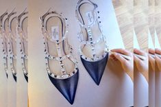 Drawing Valentino Rockstud Shoes - TimeLapse - YouTube
