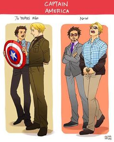 Howard and Tony Stark