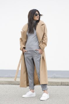 Outfit   Camel   Grey
