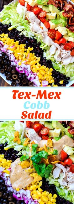 Tex-Mex Cobb Salad is a colorful salad with lots of south of the border flavor!