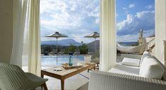 """Welcome to the """"Villa Aori"""" in Crete, Greece. Outdoor Furniture, Outdoor Decor, Swimming Pools, Crete Greece, Island, Luxury Villa, Villas, Greek, Bedrooms"""