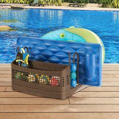 These Mesh Pool Toy Storage Bins Are Large Enough To Hold