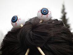 Don't Eat the Paste: Eyeball hair sticks!