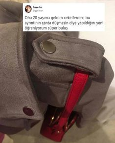 """""""Taken me 18 years to find out that the weird shoulder buttons on jackets is to hold your bag in place so it doesn't fall off🤯who knew"""" Deep Dark Fears, Motivation Wall, Crazy People, Crazy Things, Random Things, Just For Laughs, You Bag, How To Find Out, My Photos"""