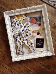 Cute baby keepsake idea , shadow box.                                                                                                                                                                                 More