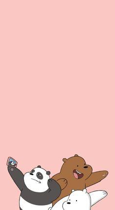 Flos-Chorum - [We Bare Bears pastel lockscreens]. - flos chorum – [We Bare Bears Pastell-Lockscreens] … – # - Wallpaper Tumblr Lockscreen, Cute Wallpaper Backgrounds, Wallpaper Iphone Cute, Galaxy Wallpaper, Wallpaper Pictures, Mobile Wallpaper, We Bare Bears Wallpapers, Panda Wallpapers, Simple Wallpapers