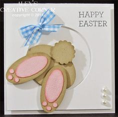 Bunny, rabbit, Easter, spring, punch art, Baby