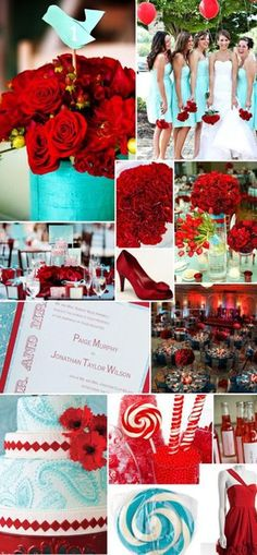 omg i actualy really like this! tiffany-blue-red-wedding