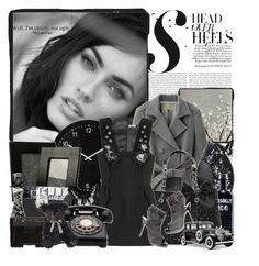 """""""Megan Fox"""" by zlatiii ❤ liked on Polyvore featuring White House Black Market, Jimmy Choo, NARS Cosmetics, trench coats, celebrity look, elle, lbd, peep toe booties, cars and grey coat"""