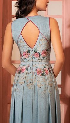 Vestido Longo Coelhos Azul   Antix