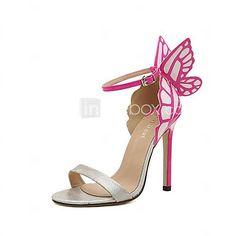 Femei Stiletto Heel Sandale cu catarama și Bowknot Shoes (mai multe culori) - USD $37.99