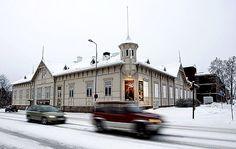 Kajaani theatre overlook from outside.