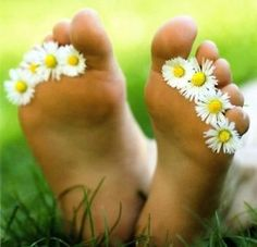 """""""Hello Summer, my barefoot toes are ready to take me to the back yard to watch clouds drift across the sky while relaxing in the cool, fresh cut grass."""" JillMarie"""