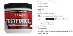 TestForce2 contains the most soluble form of d-aspartic acid combined with another remarkable amino acid known as sarcosine.  This combination provides results clearly superior to other d-aspartic acid product formulations.