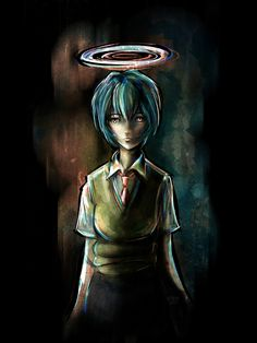Rei - Evangelion Tra-digital Geek Art Series