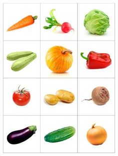 14 Printable Pictures Of Vegetables Fruit And Veg, Fruits And Vegetables, Fruit Fruit, Game Fruit, Vegetable Prints, Montessori Materials, Kids Education, Preschool Activities, Kids And Parenting