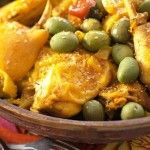 Chicken with Olives » Recipes and Foods from Morocco