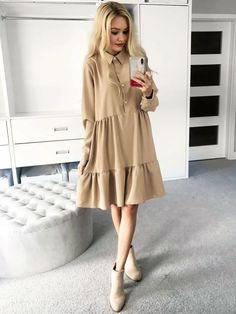 Tiered Dress, Summer Wardrobe, Business Fashion, Summer Dresses, Clothes For Women, Coat, My Style, Madina, Model