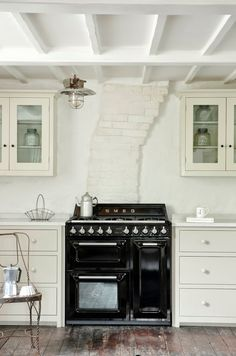 Industrial kitchen by deVol. Full details on Modern Country Style blog: Modern Country Loves: Smeg Victoria Range Cooker