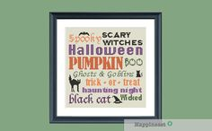 Halloween cross stitch pattern, halloween quotes, PDF, DIY ** instant download**
