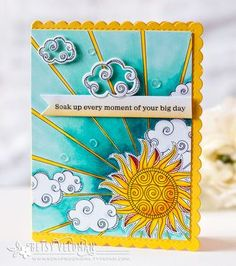 Soak Up Every Moment Card by Betsy Veldman for Papertrey Ink (June 2016)