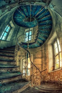 abandoned stairway.
