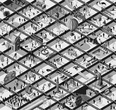 Adam Simpson - Escher and Ruscha influence.