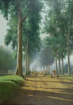 G. van Achterberg - Jalan ke pasar pagi