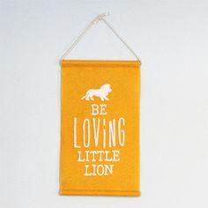 Be Loving - Eco Felt Wall Hanging. $27.50, via Etsy.