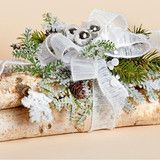 12 inchL x 6 inchW Natural Birch Log Centerpiece | Harvest of Barnstable