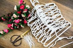 This Easter Tutorial shows you how to make an Easter Religious cross out of Coat Hangers. This spring cross can be used as a memorial wreath too. Hanger Crafts, Wreath Crafts, Diy Wreath, Mesh Wreaths, Christmas Crafts For Adults, Christmas Diy, Christmas Wreaths, Spring Wreaths, Easter Religious