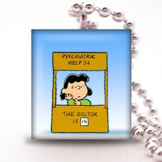Scrabble Tile Pendant CHARLIE BROWN COLLECTION Flitzee, $5.95