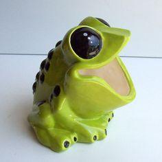 Frog Scrubby Holder, Tree Frog, Sponge Holder,Brillo Pad Holder, Ceramic  Frog, Apple Green, Home Kitchen Decor, Frog Gift, Poison Dart Frog