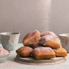 Overnight Beignets with Strawberry Powdered Sugar – A Cozy Kitchen